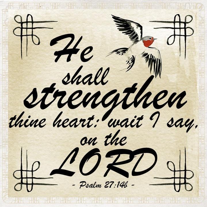 Psalm 27 14b English