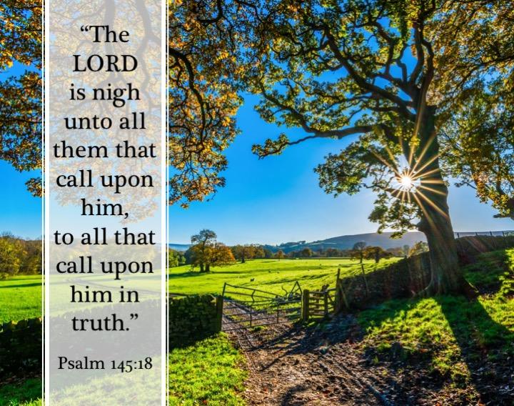 Psalm 145 18 English