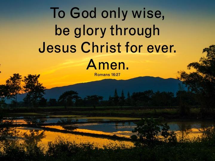Romans 16 27