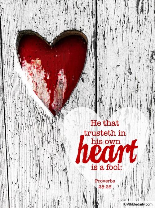proverbs 28-26 kjv