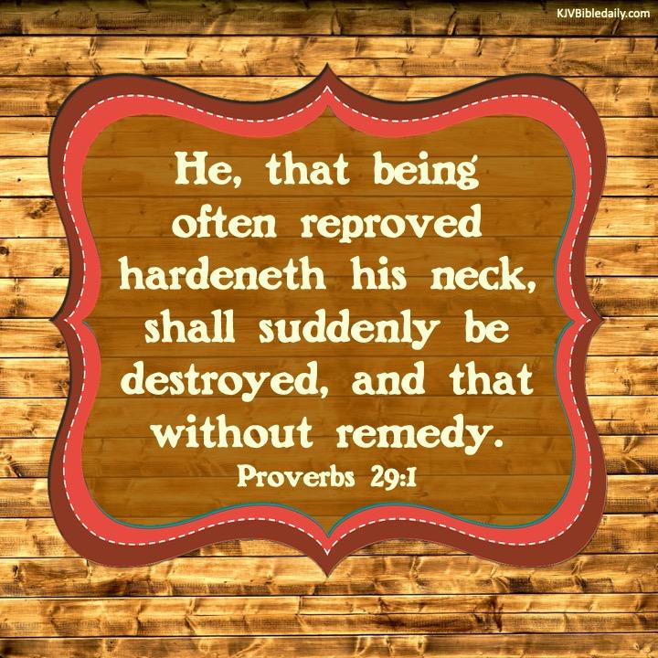 proverbs 29-1 kjv