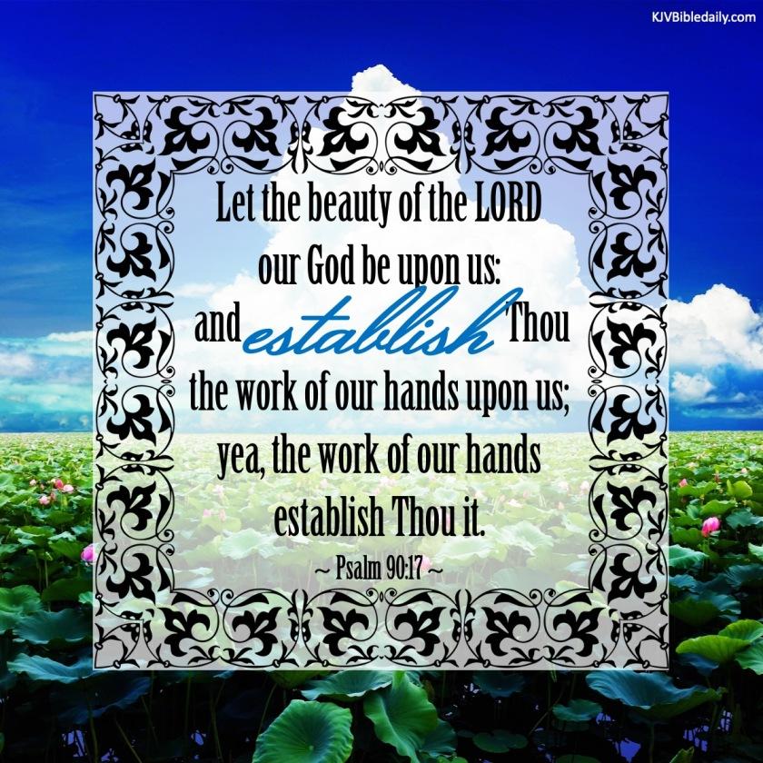 Psalm 90 17 KJV
