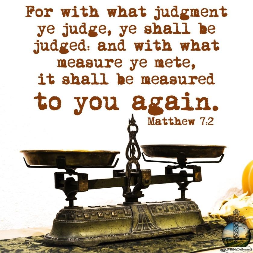 Matthew 7 2 KJV