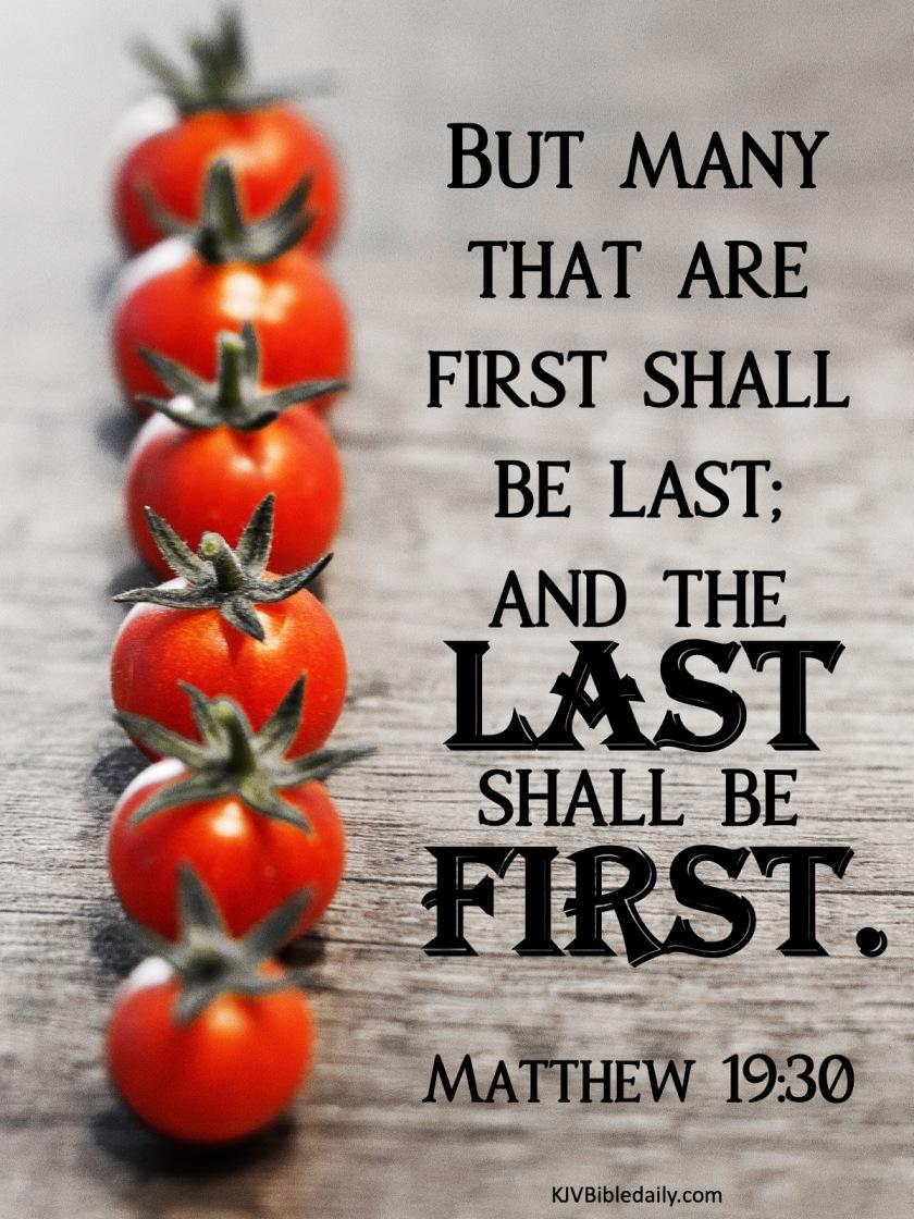 Matthew 19 30 KJV