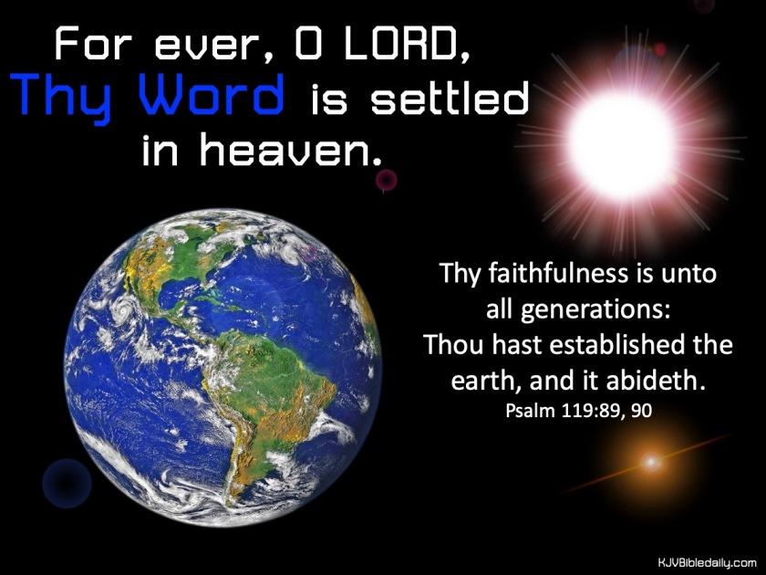 Psalm 119 89, 90 KJV