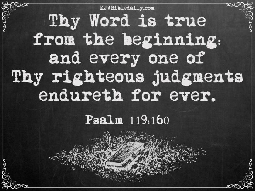 Psalm 119 160 KJV