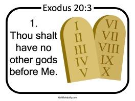 Commandment 1 KJV