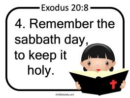 Commandment 4 KJV