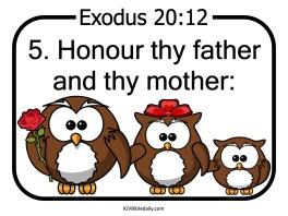 Commandment 5 KJV
