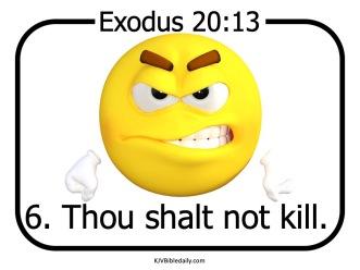 Commandment 6 KJV