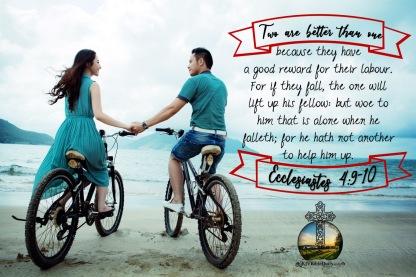 Ecclesiastes 4-9-10 KJV