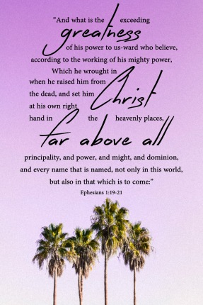 Ephesians 1 20 21 KJV