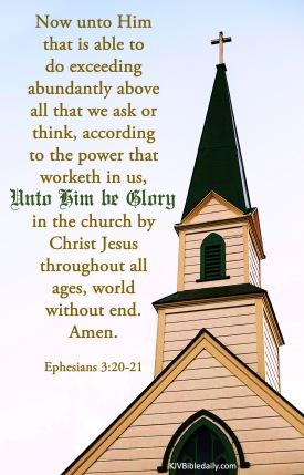 Ephesians 3 20-21 KJV