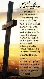 I Corinthians 2 2-5 KJV