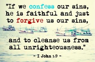 I John 1.9 English