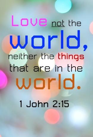 I John 2.15 English
