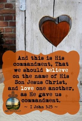 I John 3.23 KJV