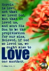 I John 4-10, 11 KJV