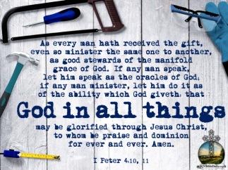 I Peter 4 10, 11 KJV