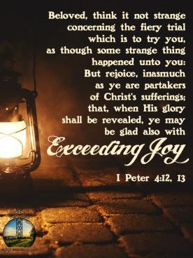 I Peter 4 12, 13 KJV