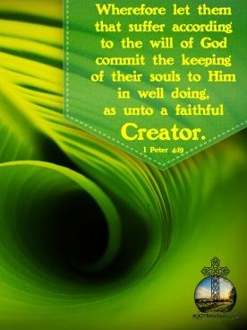 I Peter 4 19 KJV