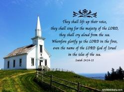 Isaiah 24-14-15 KJV