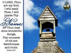 Isaiah 25-1 KJV