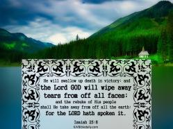 Isaiah 25-8 KJV