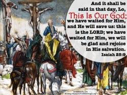 Isaiah 25-9 KJV