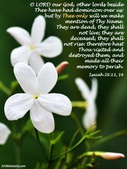 Isaiah 26-13, 14 KJV