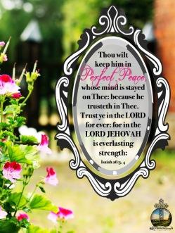 Isaiah 26-3, 4 KJV