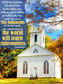 Isaiah 26-9 KJV