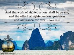 Isaiah 32-17 KJV