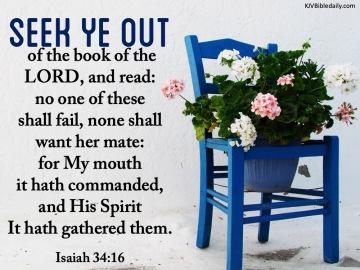 Isaiah 34-16 KJV