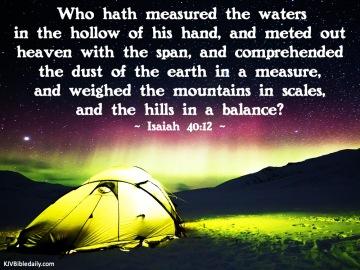 Isaiah 40-12 KJV