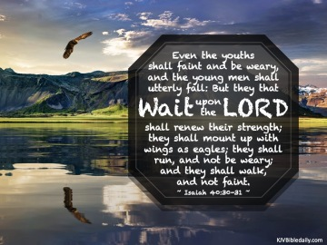 Isaiah 40-30-31 KJV