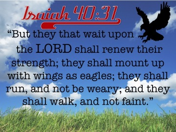 Isaiah 40.31 English