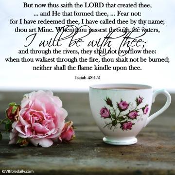 Isaiah 43 1, 2 KJV