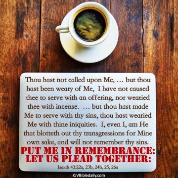 Isaiah 43 22-26 KJV