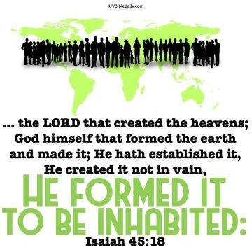 Isaiah 45-18 KJV
