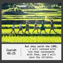 Isaiah 49-25 KJV