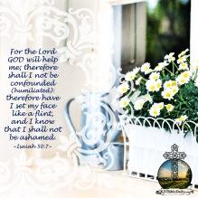 Isaiah 50-7 KJV