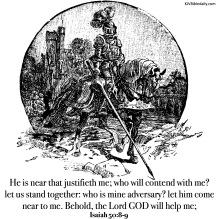 Isaiah 50-8,9 KJV