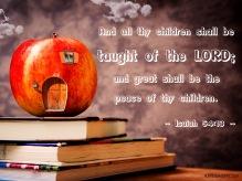 Isaiah 54-13 KJV