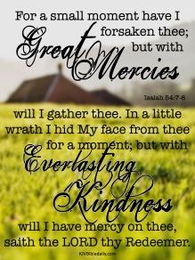 Isaiah 54-7-8 KJV