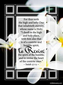 Isaiah 57-15 KJV