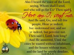 Isaiah 6 8, 9, 11 KJV