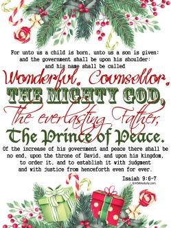 Isaiah 9 6, 7 KJV