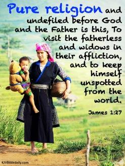 James 1 27 KJV