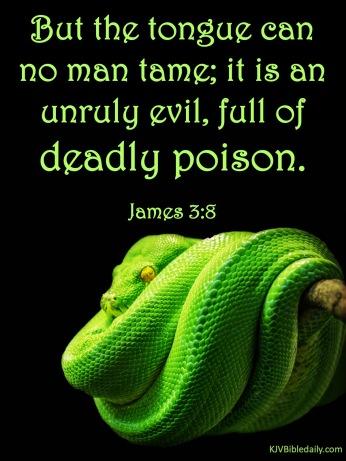 James 3 8 KJV
